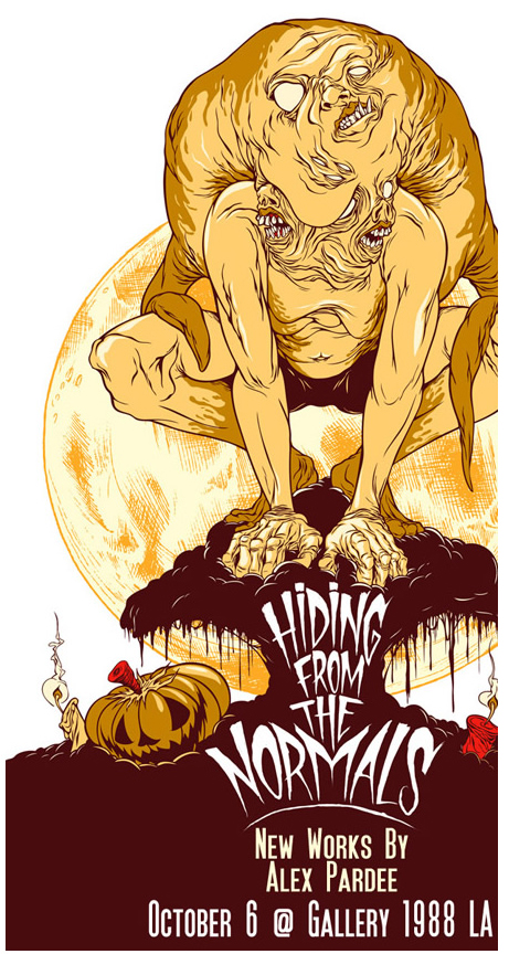 Alex Pardee 'Hiding From The Normal' Art Show