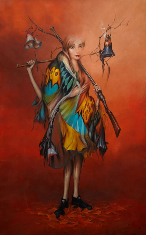 Esao Andrews 'Conjoined Bell' Original Size: 30 x 48 Inches $7,600