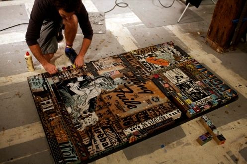 Faile In Studio Working On Another Genius Installation