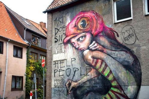 Herakut 'Art Doesn't Help People, People Help People' Artotale Festival In Berlin