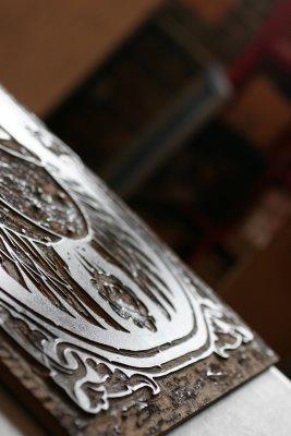 Jeremy Fish 'The Coitus' Wood Block Close Up
