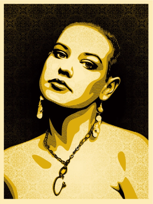 Obey 'Jessica' Edition of 450 Size: 18 x 24 Inches $55 Each