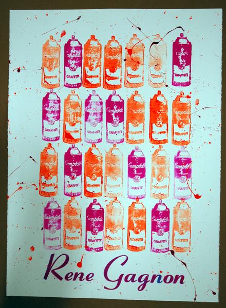 Rene Gagnon 'Gagnon A-La Warhol' Edition of 20 Size: 22 x 30 Inches $85 Each