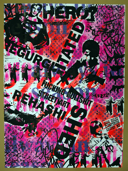 Rene Gagnon 'Regurgitated & Rehashed' PINK/RED Edition of 5 Size: 22 x 30 Inches $110 Each