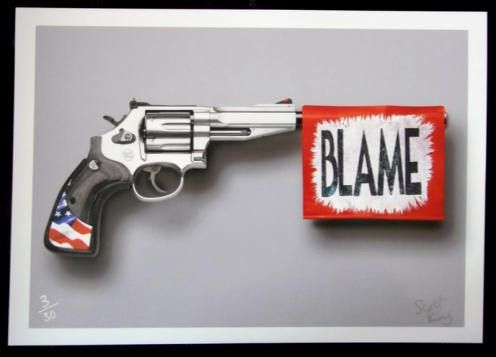 Scott King 'Who To Blame' Edition of 30 Size: