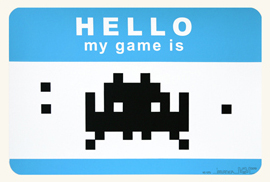 'Hello, My Game Is' Blue Edition of 25 Size: 50 x 30cm €180 Each