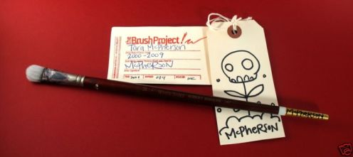 Tara McPherson - Artist Signed Brush With Art Tag *Auction Ends Tonight At 9:30pm EST