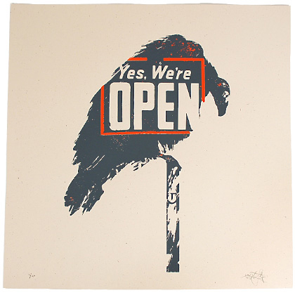 Tes-One 'Open Season' Edition of 50 Size: 18 x 18 Inches $50 Each