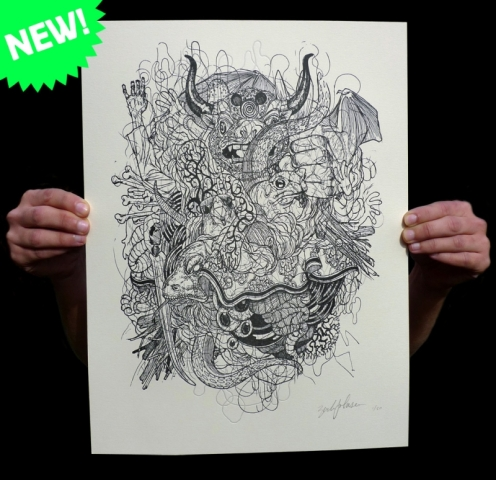 Zenvironments 'Bull Pile' Edition of 50 Size: 11 x 14 Inches $40 Each